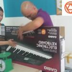 OKAKA giao đàn organ Casio CTK-3200 cho chị Loan ở Quảng Ninh