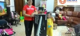 OKAKA giao đàn organ Casio CTK-6200 cho cháu gái họa sĩ Lợi Hoan Trang ở quận Bình Thạnh