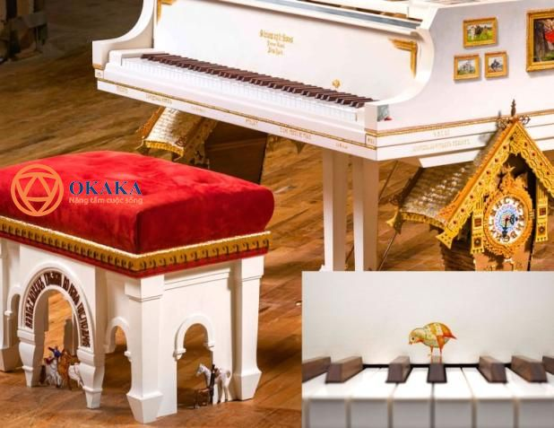 """ve-dep-doc-Mất hơn 4 năm để hoàn thành, cây đàn piano """"Pictures at an Exhibition"""" là nhạc cụ đầu tiên của Steinway & Sons lấy cảm hứng từ bản nhạc cùng tên của nhà soạn nhạc lừng danh Modest Mussorgsky. Nhạc cụ tuyệt đẹp mới ra mắt này được nghệ sĩ bậc thầy Steinway Paul Wyse thiết kế theo nguyên mẫu cây grand piano Model D.dao-cua-cay-piano-steinway-lay-cam-hung-tu-ban-nhac-noi-tieng-cua-mussorgsky-04"""