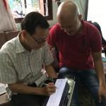 Trưa hôm nay, OKAKA đã giao đàn piano điện Yamaha Clavinova CVP-605 cho anh Quang – phó giám đốc thường trực Ban Quản lý các Dự án Đầu tư Xây dựng tại Khu Công nghệ cao TPHCM (Saigon Hi-Tech Park).