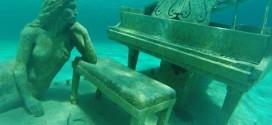 Chiêm ngưỡng tác phẩm điêu khắc đàn piano dưới nước tuyệt đẹp