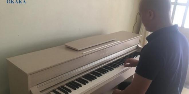 OKAKA giao đàn piano điện Yamaha CLP-535 cho anh Thu mua đàn piano lần 2