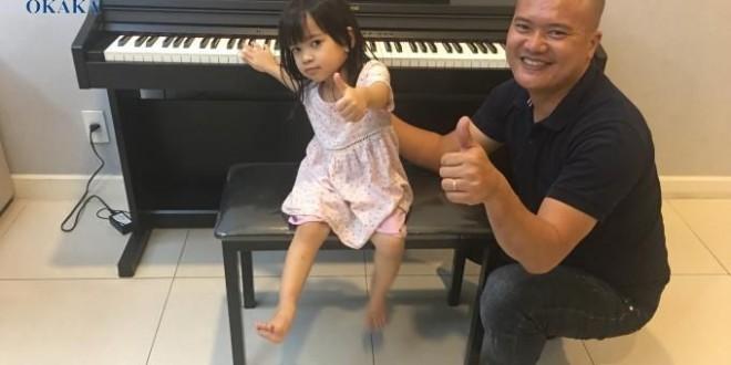 OKAKA giao đàn piano điện Roland RP-302 cho chị Hương ở Lexington, quận 2