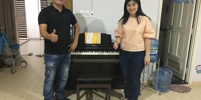 OKAKA giao đàn piano điện Roland RP-501R cho chị Hòa ở Belleza, quận 7