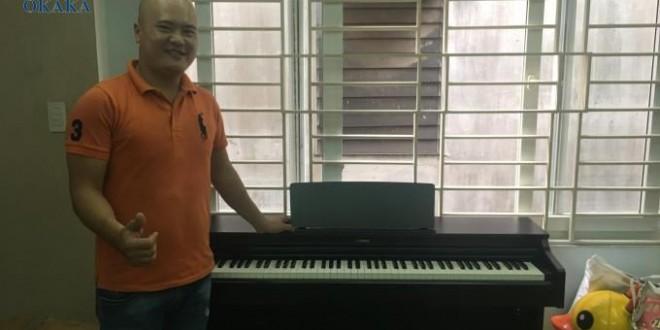 OKAKA giao đàn piano điện Yamaha YDP-163 cho chị Trang ở quận Tân Bình