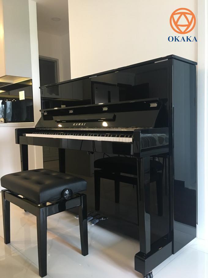 Hôm qua, OKAKA đã đến giao đàn piano cơ upright Kawai ND-21 cho chị Chi ở chung cư Scenic Valley, quận 7.