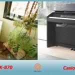 Model đàn piano điện mới 88 phím mới ra mắt năm 2017 của Casio là Privia PX-870. Nhà sản xuất đàn piano điện danh tiếng thế giới này đã làm gì để cải tiến model PX-860 phổ biến hiện nay vốn đã được cho là đỉnh cao của dòng Privia? Vâng... tất nhiên họ sẽ cố gắng để làm cho nó tốt hơn, vấn đề là Casio đã làm gì để PX-870 mới có thể thay thế hoàn toàn model PX-860?